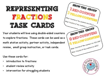 Representing Fractions Task Cards