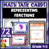 Representing Fractions  | Paper or Digital Task Cards