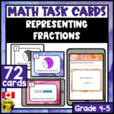 Representing Fractions Task Cards Grades 3-5