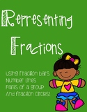 Representing Fractions - Up to 8ths - Blank Version Included!