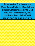 Representing Fractions and Fraction Word Problems Activity