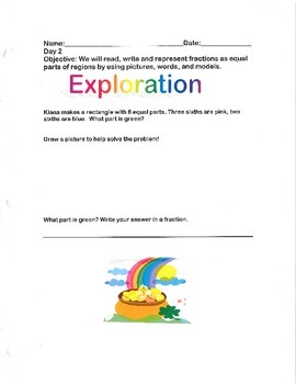 Representing Fractions as Equal Parts- By: Ms. Bisker