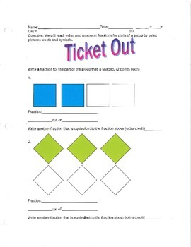 Representing Fractions as Part of a Group- By: Ms. Bisker