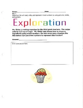 Representing Fractions with Pictures, Words, and Symbols (Part 2)-By: Ms. Bisker