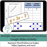 Representing Functions | Digital and Print Word Problem Ac