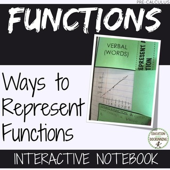 Representing Functions Interactive Notebook and Card Activity