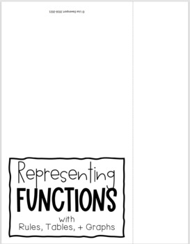 Representing Functions as Rules, Tables, and Graphs (Foldable)