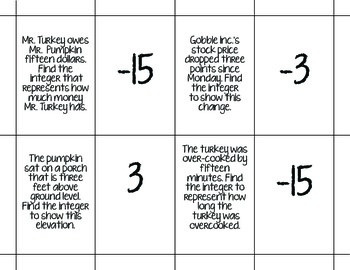 Representing Integers Activity Bundle: BUMP, Matching, I have Who has, Relay