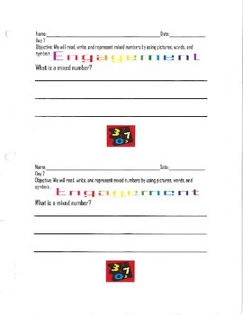 Representing Mixed Numbers Using Pictures, Words, and Symbols-By: Ms. Bisker