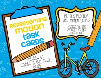 Representing Motion Task Cards