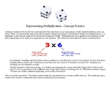 Representing Multiplication Dice Activity with Grading Checklist