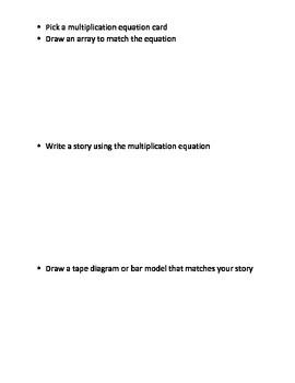 Representing Multiplication Equations Center