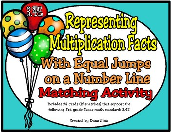 Representing Multiplication Facts with Equal Jumps on a Number Line (TEKS 3.4E)