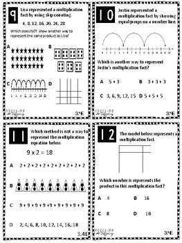 Representing Multiplication TEKS 3.4E Task Cards