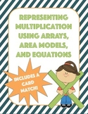 Representing Multiplication using Arrays, Area Models, and Equations