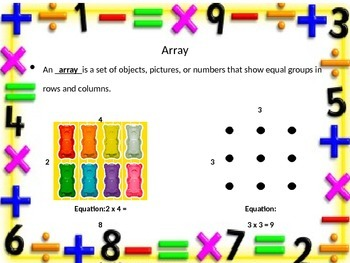 Representing Multiplication using Arrays Power Point