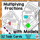 Multiplying Fractions | Fractions Word Problems | Fractions Models Task Cards