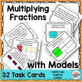 Multiplying Fractions   Fractions Word Problems   Fractions Models Task Cards