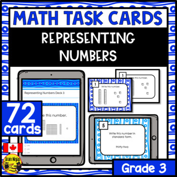 Representing Number Task Cards Grade 3