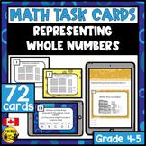 Representing Numbers | Paper or Digital Task Cards