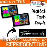 Representing Numbers 0-20 | Visual Discrimination Math Boom Cards (Kindergarten)
