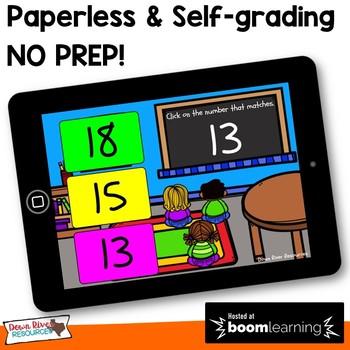 Representing Numbers 0-20   Visual Discrimination Math Boom Cards (Kindergarten)