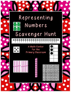 Representing Numbers (0-50) Scavenger Hunt Math Center / Station