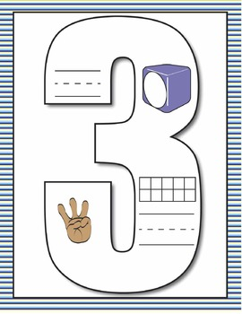 Representing Numbers 1-10: Anchor Charts and Student Practice Booklets