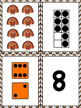 Representing Numbers 1-12 Card Game