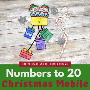 Representing Numbers 1-20 Christmas Mobile