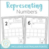 Representing Numbers Activity Sheets - 0 to 20 - QLD FONT