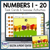 Representing Numbers 1 to 20 with Pumpkins Seesaw Activiti
