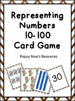 Representing Numbers 10-100 Card Game