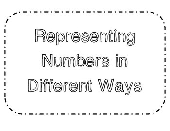 Representing Numbers Matching Game