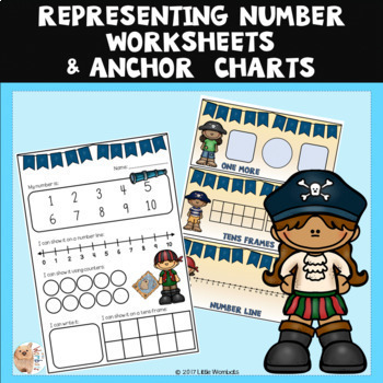 Representing Numbers Activities and Anchor Charts / Posters