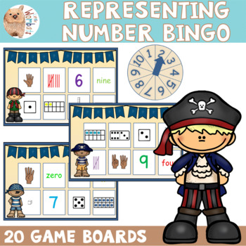 Representing Numbers Bingo Activity 0 - 10