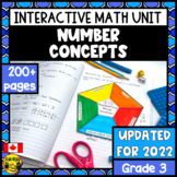 Representing  Numbers Interactive Notebook Grade 3