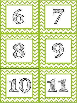Representing Numbers Matching Cards