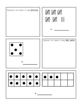 Representing Numbers Math Packet