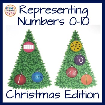 Representing Numbers Multiple Ways-  Christmas Theme