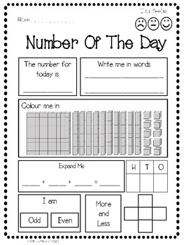Representing Numbers - Number of the Day