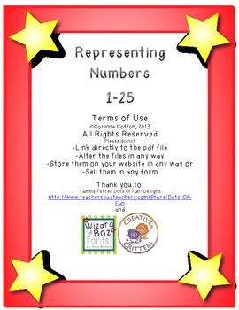 Representing Numbers Recording Sheet 1-25
