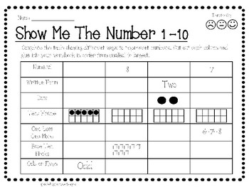 Representing Numbers - Show Me The Number
