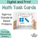 Representing Numbers Task Cards and Google Classroom Expanded Word Standard Form