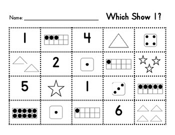 Representing Numbers in Different Ways (1-10)