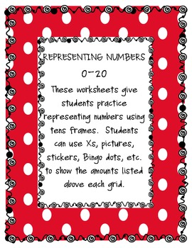Representing Numbers using Tens Frames