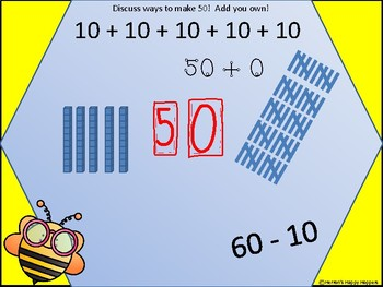 Representing Numbers with Busy Bee Freebie