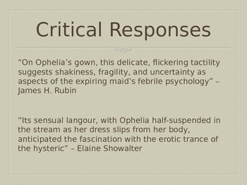 Representing Ophelia (From Shakespeare's Hamlet)