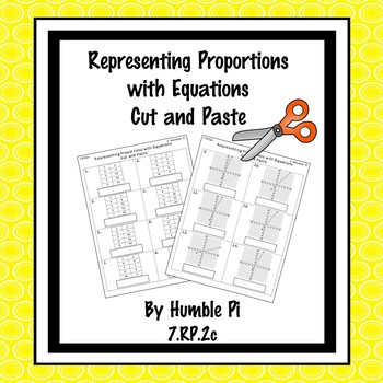 Representing Proportions with Equations Cut and Paste-7.RP.2c