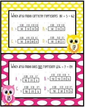 Representing Quotients: Arrays, Area Models & Equations: TEKS:4.4E; CC:4.NBT.B.6